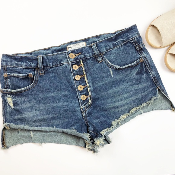 Free People Pants - Free People Button Fly Cutoff Frayed Distressed O